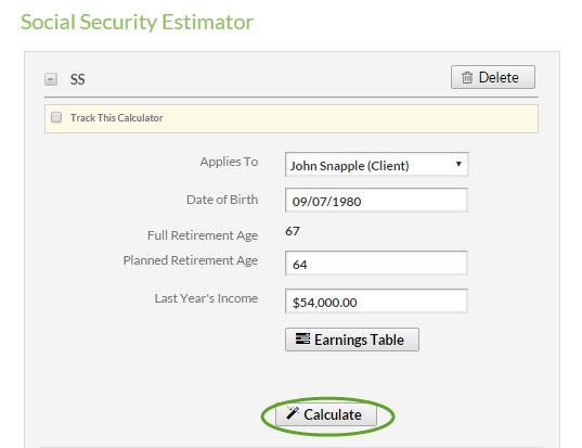 Social Security Estimator Calculator – Support