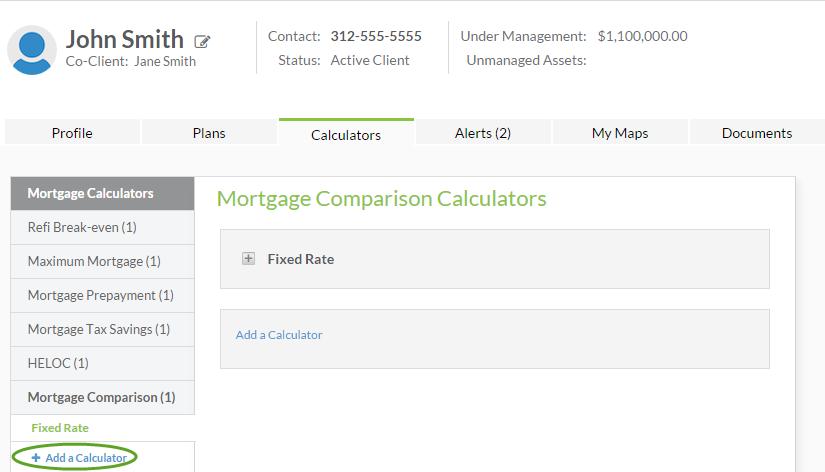 mortgage comparision calculator support